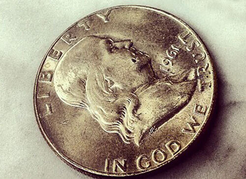 Half Dollar Franklin Dime