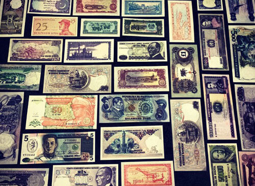 Collection of Countries Paper Currency