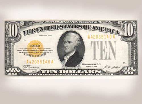 Photo of United States Ten Dollar