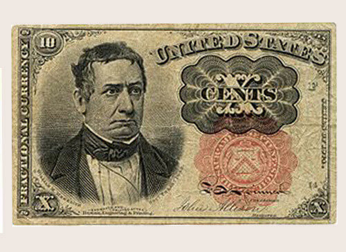 X Cent Paper Currency